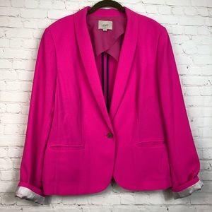 Ann Taylor LOFT Hot Pink Blazer Jacket Career XL